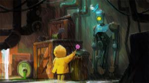 640x357_5348_In_the_rain_2d_illustration_child_robot_rain_picture_image_digital_art